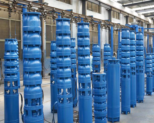 Submersible pumps borewell