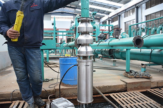 3 phase submersible pump test